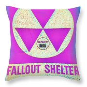 Fallout Shelter Wall 6 Throw Pillow