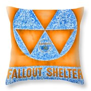 Fallout Shelter Wall 7 Throw Pillow