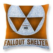 Fallout Shelter Wall 8 Throw Pillow