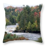 Falls And Color Throw Pillow