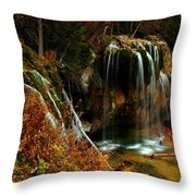 Falls At Hanging Lake Throw Pillow
