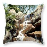 Falls At Jackalope Ranch 2 Throw Pillow