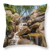 Falls At Jackalope Ranch Throw Pillow