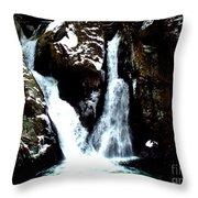 Falls In Winter Throw Pillow