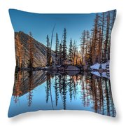 Falls Last Colors Throw Pillow by Mike Reid