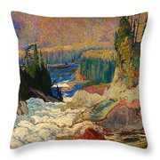 Falls - Montreal River Throw Pillow