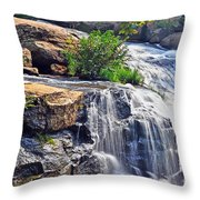 Falls Of Reedy River Throw Pillow