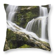 Falls On Sauk River Washington Throw Pillow