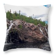 Falls On The Aguasabon River Throw Pillow
