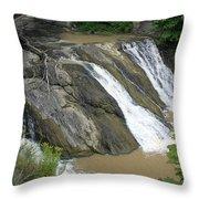 Falls On The Coeyman Creek Throw Pillow