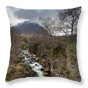 Falls On The River Coupall Throw Pillow