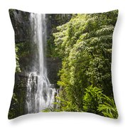 Falls On The Road To Hana Throw Pillow
