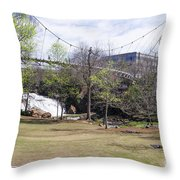 Falls Park On The Reedy Greenville Throw Pillow