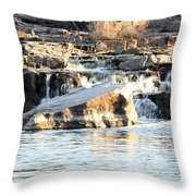 Falls Park Waterfalls Throw Pillow