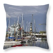 Falmouth Harbour And Docks Throw Pillow