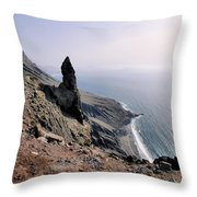 Famara Cliffs On Lanzarote Throw Pillow