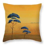 Famboyanes Azules Throw Pillow