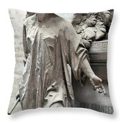 Famiglia Cavaliere Del Francesco Canti Memorial Marker Detail I  Throw Pillow