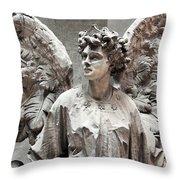 Famiglia Cavaliere Del Francesco Canti Memorial Marker Detail IIi Monumental Cemetery Throw Pillow
