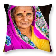 Familiar Eyes Throw Pillow