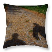 Familiar Shadows Throw Pillow