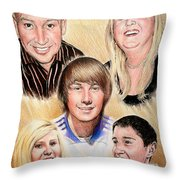 Family Collage Commissions Throw Pillow