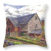 A Scottish Farm  Throw Pillow