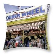Family Fun - Coney Island - Brooklyn - New York Throw Pillow