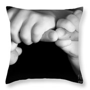 Family Hands  Throw Pillow by Ofer Zilberstein