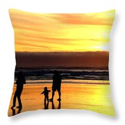 Family In The Yellow Spotlight Throw Pillow