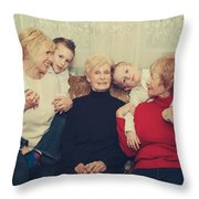 Family Throw Pillow by Laurie Search