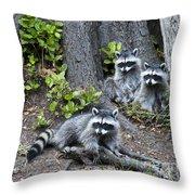 Family Portait Throw Pillow