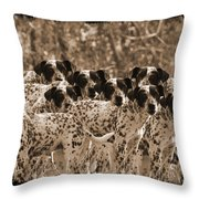 Family Portrait Before The Hunt-featured Picture In Large Dogs Only Group Throw Pillow