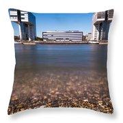 Famous Crane Houses Kranhaeuser In Cologne Throw Pillow