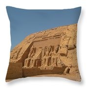 Famous Egyptian Landmarks Throw Pillow