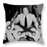 Famous Guitarist Carlos Montoya 1953 Throw Pillow