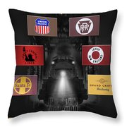 Famous Railroads Throw Pillow