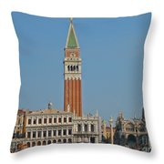 Famous Venice Italy Throw Pillow