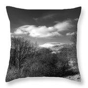 Fan Fawr Brecon Beacons 2 Mono Throw Pillow