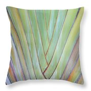 Fan Palm Abstract 2 Throw Pillow