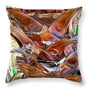 Fan Palm Trunk In Andreas Canyon In Indian Canyons-ca Throw Pillow