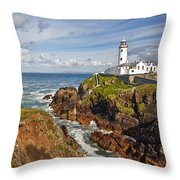 Fanad Lighthouse Donegal Ireland Throw Pillow