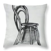 Fanback Parlor Chair Throw Pillow