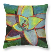 Fanciful Agave Throw Pillow