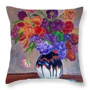 Fanciful Bouquet Throw Pillow