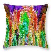 Fanciful Colors  Abstract Mosaic Throw Pillow