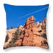 Fanciful Rock Shapes Throw Pillow