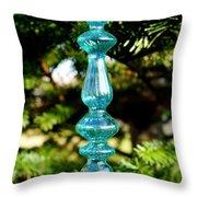 Fancy Blue Ornament Throw Pillow
