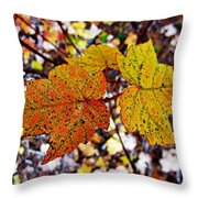Fancy Fall Leaves Throw Pillow