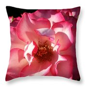 Fancy Flaminco Rose Throw Pillow